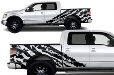 Ford F-150 2009-2014 Custom Half Side Decal Truck Wrap - SHRED