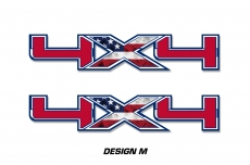 "4x4 Off Road Truck Bed Decal Set For Ford F150 Raptor Vinyl Stickers 16"" X 3"""