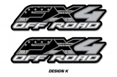 "Fx4 Off Road Truck Bed Decal Set For Ford F150 Raptor Vinyl Stickers 15"" X 4"""