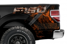 Ford F-150 2009-2014 Custom Rear Quarter Panel Decal Truck Wrap