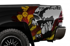 Toyota Tacoma Truck Quarter Panel Wrap Graphic Decal Printed SCREAM 2005-2015