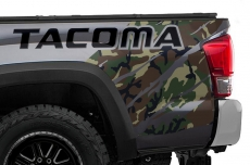 Toyota Tacoma Truck Quarter Panel Wrap Graphic Decal 2016-2018
